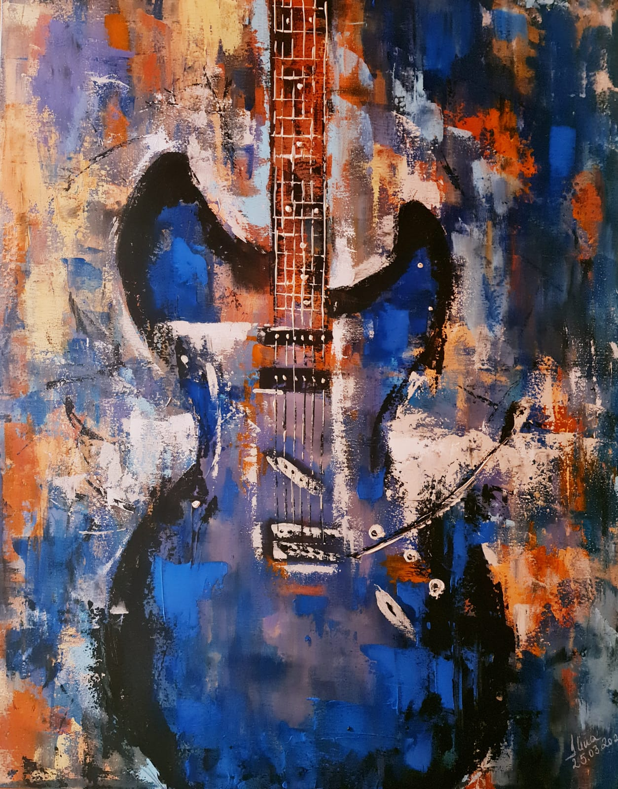 ArteDiAlina.com painting: Love & blues